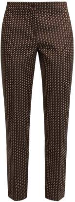 Etro Chevron-jacquard cropped trousers