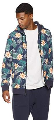 Rebel Canyon Young Men's Regular Fit Printed Palm Floral French Terry Zip Hoodie