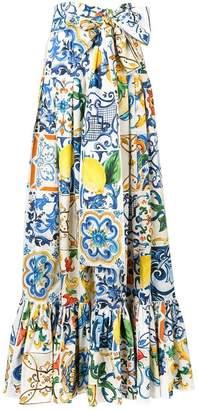 Dolce & Gabbana Majolica print maxi skirt