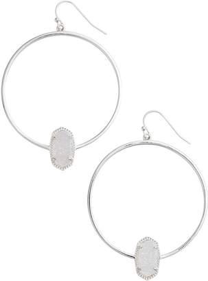 Kendra Scott KendraScott Signature Elora Frontal Hoop Iridescent Drusy/Silver Earrings