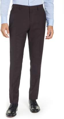Ted Baker Button Front Tall Twill Slim Straight Trousers
