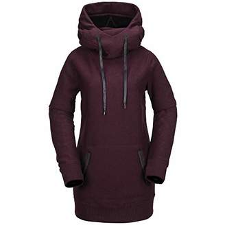 Volcom Women's Riding Hoody Deep Hood Fleece