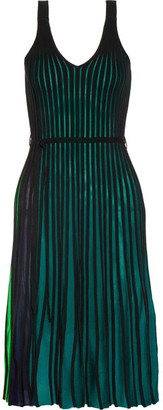 KENZO - Ribbed Stretch-knit Dress - Green $485 thestylecure.com