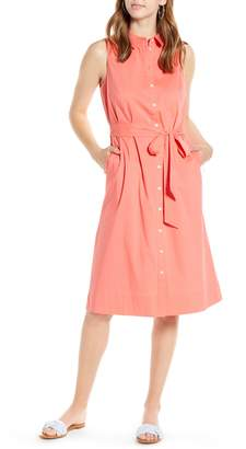 1901 Sleeveless Cotton Blend Shirtdress