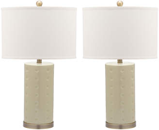 Safavieh Set Of 2 26In Roxanne Table Lamps