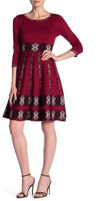 Taylor Elbow Sleeve Knit Fit & Flare Dress