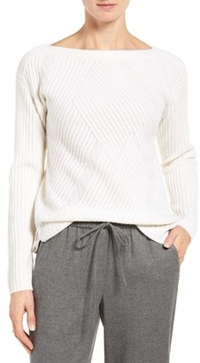 Women's Nordstrom Collection High/low Boatneck Cashmere Sweater $299 thestylecure.com