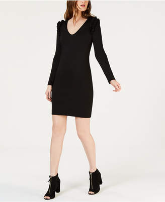 Trina Turk Eleanora Ruffle-Shoulder Shift Dress