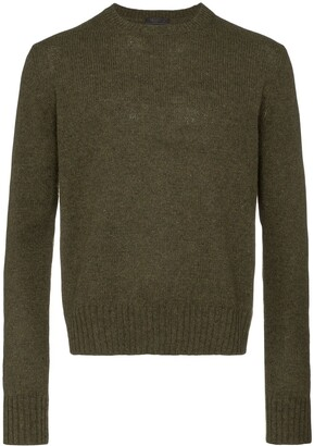 Prada crew neck wool jumper