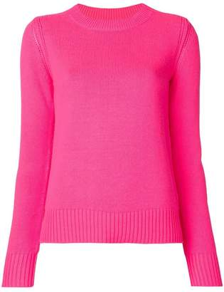 Burberry ribbed details crew neck sweater
