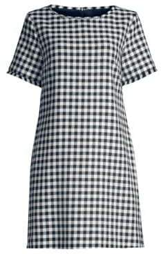 Max Mara Afelio Cotton Gingham Shift Dress