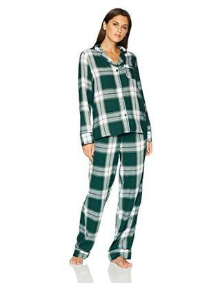 Mae Women s Sleepwear Cozy Flannel Notch Collar Pajama Set b16695488
