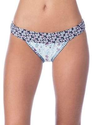 Lucky Brand Tile to Bloom Banded Hipster Bikini Bottoms