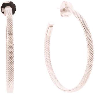 Sterling Silver Mesh 45mm Hoop Earrings