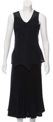 Les Copains Ruffled Skirt Set