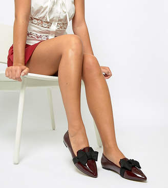 fa4aea263a5 Asos Design DESIGN Wide Fit Ludo ballet flats loafers