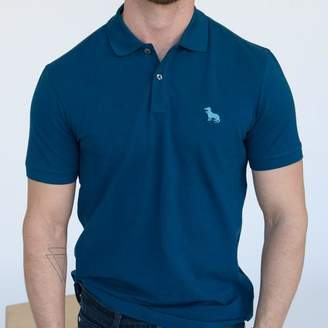 Blade + Blue Dark Teal Blue Cotton Pique Polo