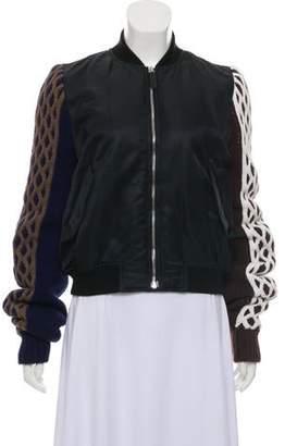 J.W.Anderson Knit Sleeve Bomber Jacket