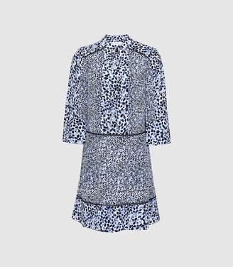 Reiss Anush - Floral Printed Tea Dress in Multi