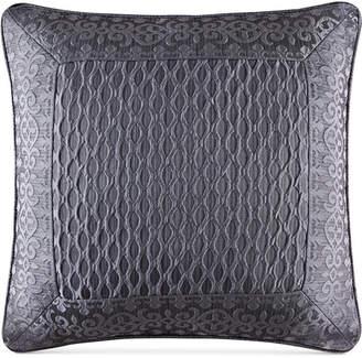 """J Queen New York Bohemia Graphite 20"""" Square Decorative Pillow"""