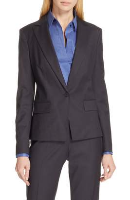 BOSS Jalissa Pepita Wool Suit Jacket