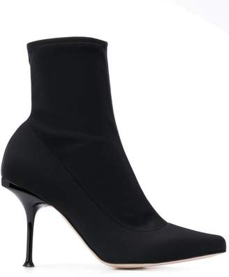 Sergio Rossi stiletto sock boots