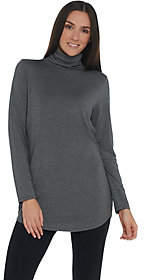 Belle by Kim Gravel Ruched Turtleneck Tunic