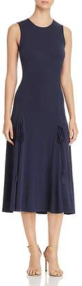 Tory Burch Shannon Drawstring Midi Dress