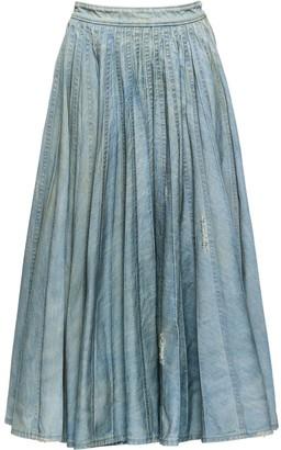 Miu Miu pleated denim skirt