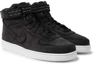 66a3529b355f Nike Vandal High Supreme QS Leather-Trimmed Suede High-Top Sneakers - Men -