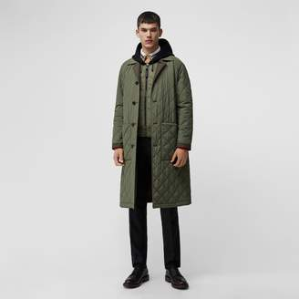 Burberry Reversible Diamond Quilted and Cotton Car Coat , Size: 50, Green