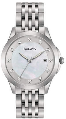 Bulova Analog Diamond Collection Stainless Steel Bracelet Watch