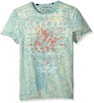 Buffalo David Bitton Men's Ticape Short Sleeve Crew Neck T-Shirt