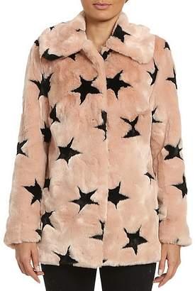 Avec Les Filles Star Faux Fur Coat $199 thestylecure.com