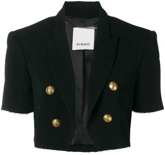Pinko double breasted cropped jacket