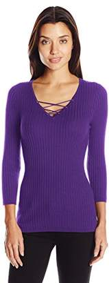 United States Sweaters Women's Ribbed V Neck Sweater