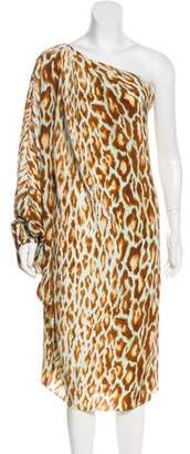 Christian Dior Silk One-Shoulder Dress
