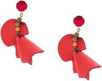 Marni embellished flower earrings