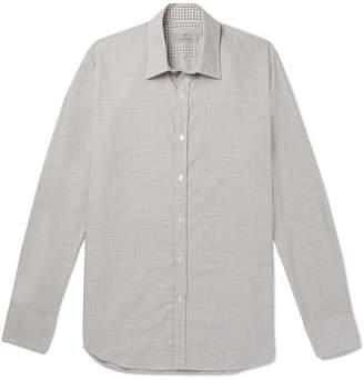 Canali Puppytooth Cotton-poplin Shirt
