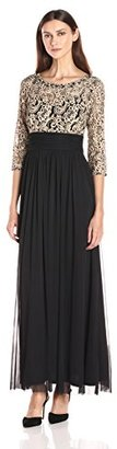 Jessica Howard Women's 3/4 Sleeve Illusion Sweetheart Neck Ruched Waist Dress with Shirred Skirt $138 thestylecure.com