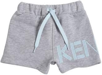 Kenzo Logo Printed Cotton Sweat Shorts