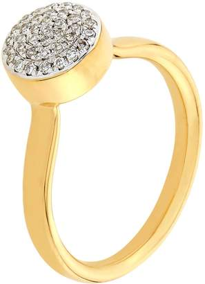 Monica Vinader Fiji Button Diamond Ring