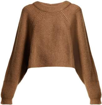 Lemaire Cropped Yak And Alpaca Blend Sweater - Womens - Brown