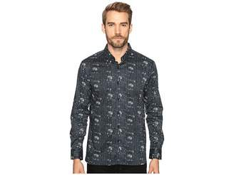 7 Diamonds Etched Out Long Sleeve Shirt Men's Long Sleeve Button Up