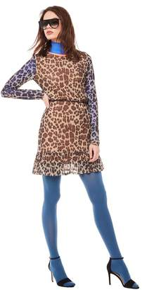 Juicy Couture Jxjc Leopard Dropwaist Bell Sleeve Dress