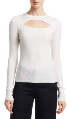 A.L.C. Nell Cut-Out Wool Sweater