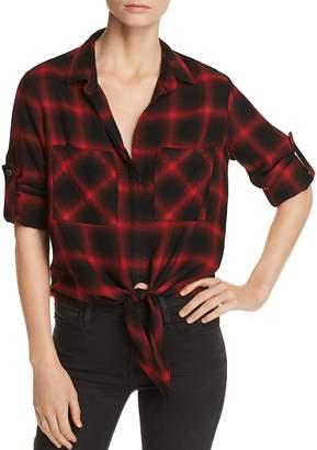 Bella Dahl Tie-Front Plaid Shirt