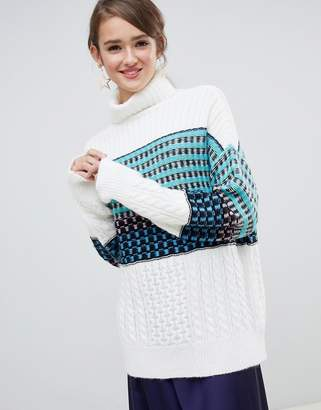 Asos (エイソス) - ASOS DESIGN high neck sweater in block check