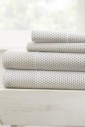IENJOY HOME Home Spun Premium Ultra Soft 3-Piece Stippled Pattern Twin Bed Sheet Set - Gray