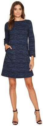 Donna Morgan Ernestine T-Shirt Dress with Leather Slanted Pockets Women's Dress